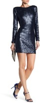 Dress the Population Kelly Long Sleeve Sequined Dress