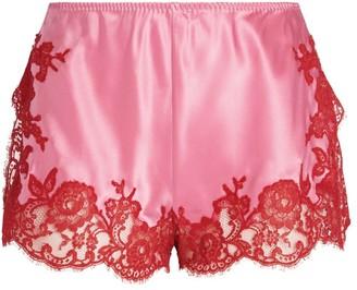 Marjolaine Gemma Lace-Trim Shorts