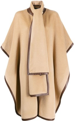 Alberta Ferretti Oversized Textured Cape Coat