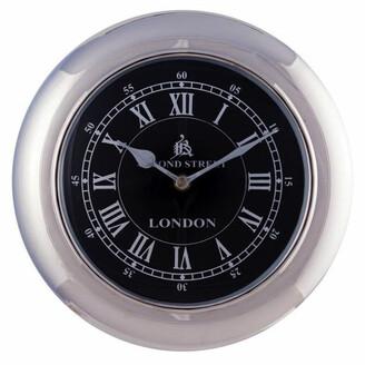 J & K Europe Imports Retro Wall Clock Small Black