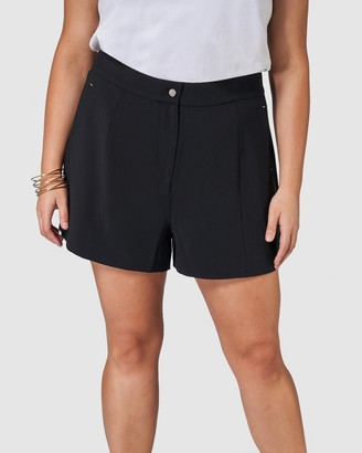 Something 4 Olivia - Women's Black Shorts - Bella Tailored Short - Size One Size, 14 at The Iconic