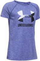 Under Armour Heathered Novelty Big Logo T-Shirt, Big Girls