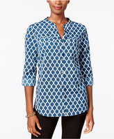 Charter Club Petite Iconic-Print Shirt, Only at Macy's