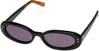 Le Specs Luxe The Outlaw Oval Acetate Sunglasses