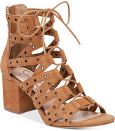 Jessica Simpson Haize Lace-Up Block-Heel Sandals