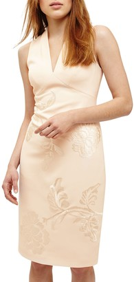 Phase Eight Ruby Embroidered Dress, Cream