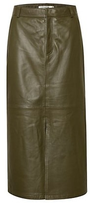 Gestuz Alana Leather Midi Skirt