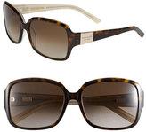 Kate Spade Women's 'Lulu' 55Mm Rectangular Sunglasses - Tortoise/ Gold