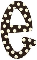 My Baby Sam Polka Dot Letter e, Brown/White by