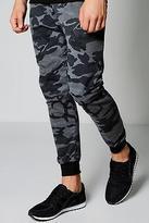 Boohoo Mens Drop Crotch Camo Slim Fit Joggers