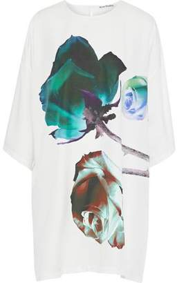 Acne Studios Oversized Printed Voile Mini Dress