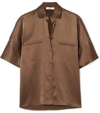 Vince Silk-satin Shirt - Green
