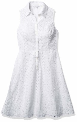 London Times Women's Branch Leaf Eyelet Fit and Flare