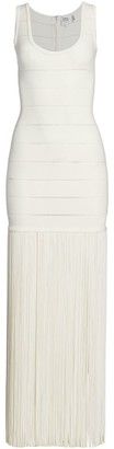 Herve Leger Fringe Maxi Dress