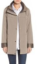 Gallery Women's Silk Look Hooded Raincoat