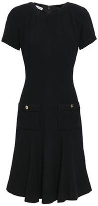 Oscar de la Renta Fluted Wool-blend Boucle Dress