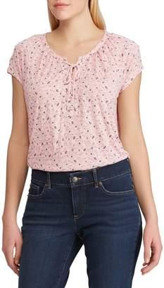 Chaps Petite Floral Short-Sleeve Top