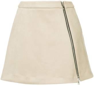 GUILD PRIME zip front mini skirt