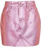 Topshop MOTO Pink Metallic Skirt