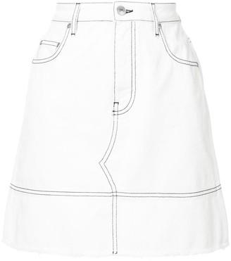 MSGM fitted denim skirt