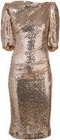 Talbot Runhof metallic fitted dress
