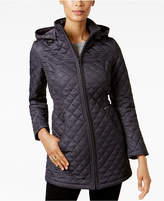 Laundry by Shelli Segal Faux-Fur-Lined Quilted Coat