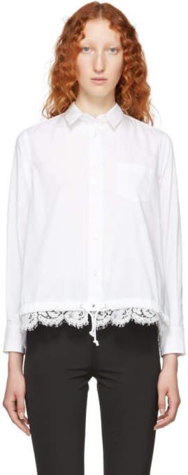 Sacai White Cotton Poplin Shirt