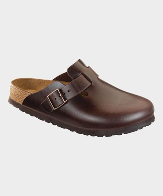 Birkenstock Boston Soft Footbed in Brown Amalfi Leather