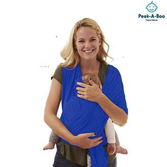 Peek-A-Boo | Premium Baby Wrap Carrier Adjustable Breastfeeding Cover Cotton Sling Baby Carrier for Infants up to 35 lbs/16kg, Soft and Comfortable | One Size Fits All | Cozy & Soothing For Babies | Suitable for Newborns, Infants & Toddlers | Premium Cotton/Spandex Comfort Fabric |100% Guarantee | Ideal Gift I ROYAL BLUE