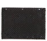 Whiting & Davis Women's Faux Leather & Mesh Card Case - Black