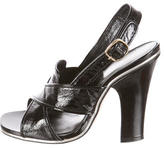 Marc Jacobs Patent Leather Crisscross Sandals