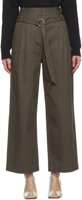 Tibi Khaki Gabardine Stella Trousers