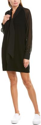 Twin-Set Twinset Scarf Neck Silk-Trim Wool-Blend Sweaterdress