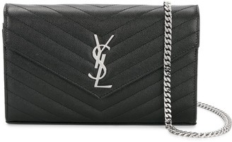 Saint Laurent Monogram Wallet On Chain
