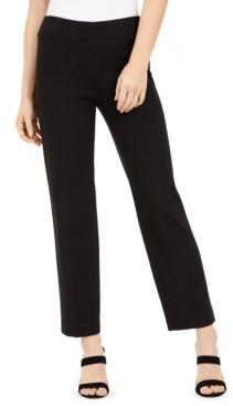 Bar III Pull-On Straight-Leg Pants, Created for Macy's