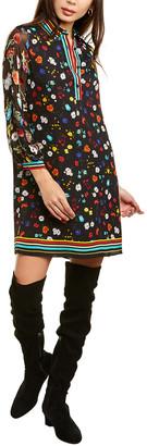 Alice + Olivia Lalita Silk-Blend Shirtdress