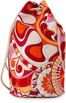 Emilio Pucci Nigeria Printed Oversized Bucket Bag