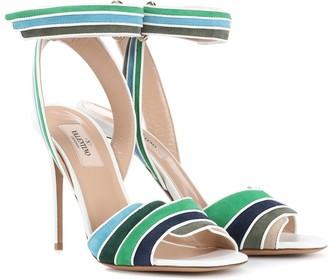 Valentino Rainbow 105 suede sandals