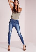 Missguided Tall Exclusive Raw Hem Skinny Jeans