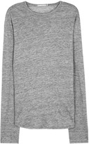 Vince Grey Fine-knit Linen Jumper