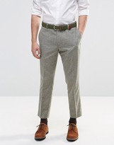 Asos Slim Crop Smart Pants In Light Khaki