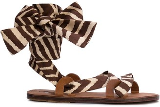 Brother Vellies Zebra Flat Sandals
