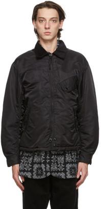 Engineered Garments Black Flight Driver Bomber Jacket