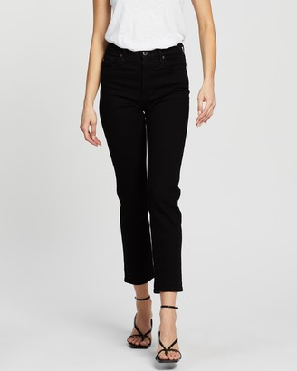 AG Jeans Isabelle Straight Crop Jeans