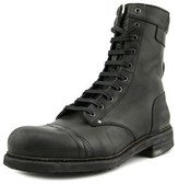 Diesel Cassidy Men Round Toe Leather Black Boot.