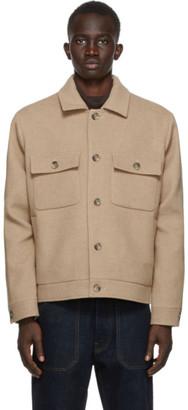 Nanushka Brown Pax Wool Felt Jacket