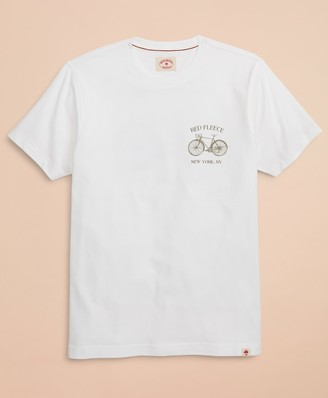 Brooks Brothers Red Fleece Bicycle Graphic T-Shirt