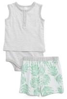 Nordstrom Infant Stripe Bodysuit & Print Shorts Set