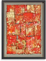 Bed Bath & Beyond Stretched Paper Gold Leaf Shadowbox Wall Décor
