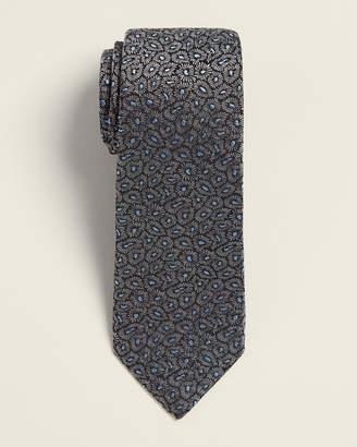 Lanvin Grey & Blue Floral Tie